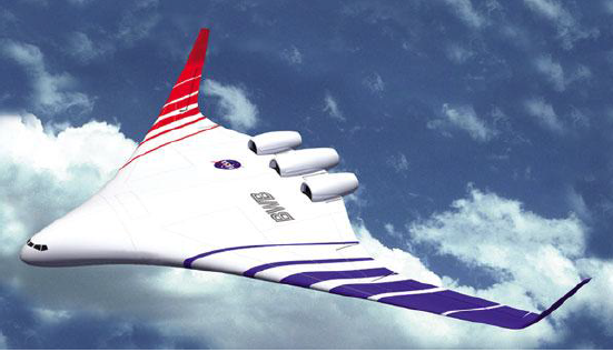Image above is artist concept of one version of the blended wing body aircraft.